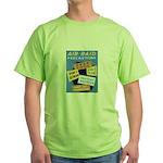 Air Raid War Poster Green T-Shirt