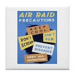 Air Raid War Poster Tile Coaster