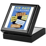 Air Raid War Poster Keepsake Box