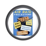 Air Raid War Poster Wall Clock