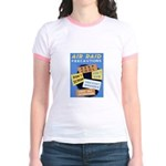 Air Raid War Poster Jr. Ringer T-Shirt