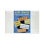 Air Raid War Poster Rectangle Magnet (10 pack)
