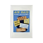 Air Raid War Poster Rectangle Magnet (100 pack)