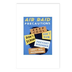 Air Raid War Poster Postcards (Package of 8)