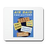 Air Raid War Poster Mousepad