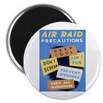 Air Raid War Poster Magnet