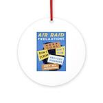 Air Raid War Poster Ornament (Round)