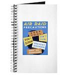 Air Raid War Poster Journal