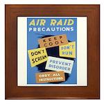 Air Raid War Poster Framed Tile