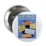 Air Raid War Poster Button
