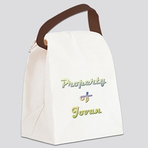 Property Of Jovan Female Canvas Lunch Bag