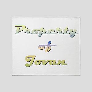 Property Of Jovan Female Throw Blanket