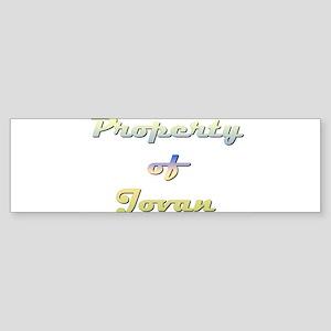 Property Of Jovan Female Sticker (Bumper)