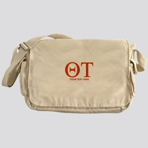 Theta Tau Personalized Messenger Bag