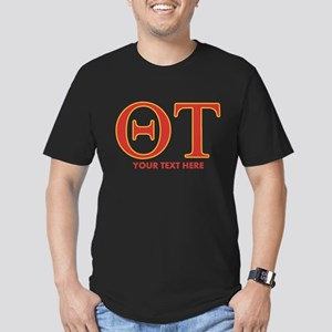 Theta Tau Personalized Men's Fitted T-Shirt (dark)