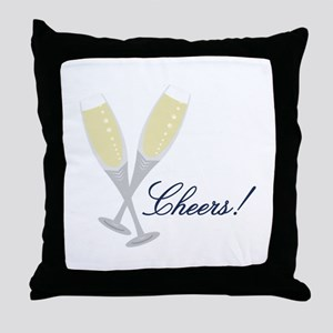 Champagne Cheers Throw Pillow