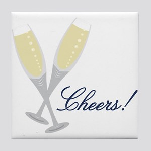 Champagne Cheers Tile Coaster