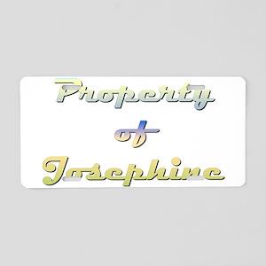 Property Of Josephine Female Aluminum License Plat