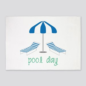 Pool Day 5'x7'Area Rug