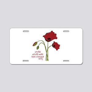 A Thought Away Aluminum License Plate