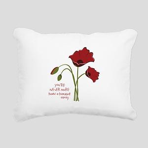 A Thought Away Rectangular Canvas Pillow