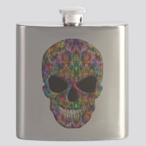 Colorful Fire Skull Flask