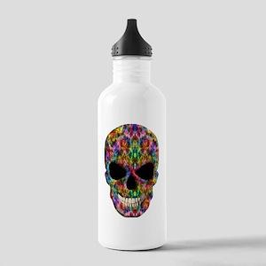 Colorful Fire Skull Water Bottle