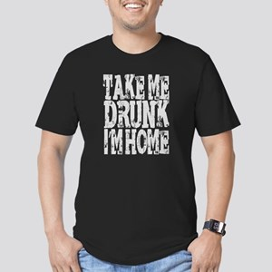 Take me drunk Im home Men's Fitted T-Shirt (dark)