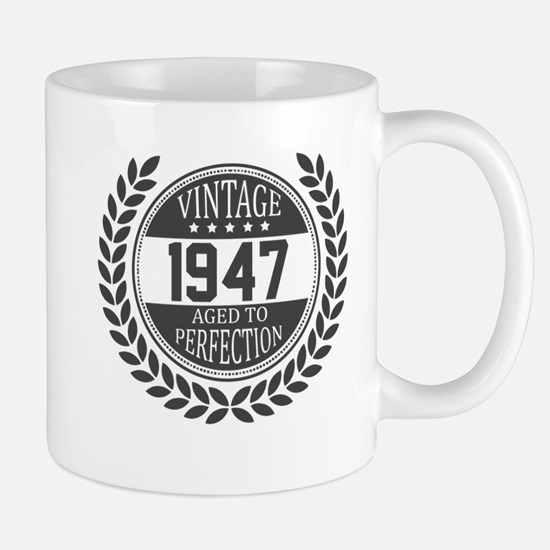 Vintage 1947 Aged To Perfection Mugs