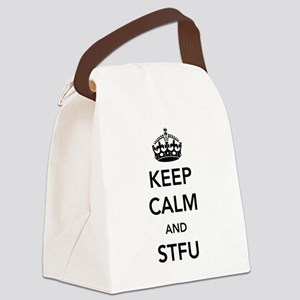 Keep Calm And STFU Canvas Lunch Bag