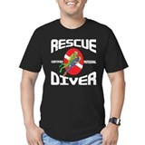 Dive rescue Fitted Dark T-Shirts