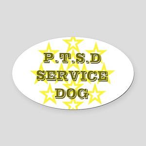 SERVICE DOG Oval Car Magnet