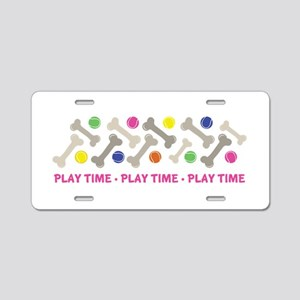Play Time Aluminum License Plate
