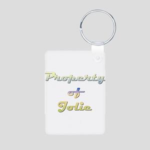 Property Of Jolie Female Aluminum Photo Keychain
