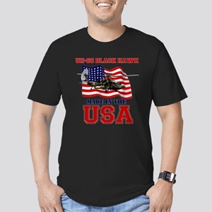 UH-60 Black Hawk Men's Fitted T-Shirt (dark)