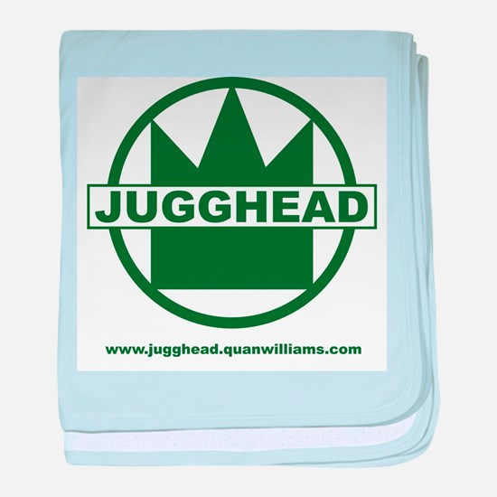 Jugghead logo with text baby blanket