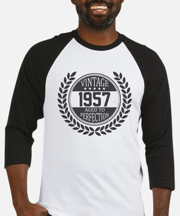 Vintage 1957 Aged To Perfection Baseball Jersey