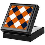 Shy Orange and Blue Cobbler-Patterned Keepsake Box