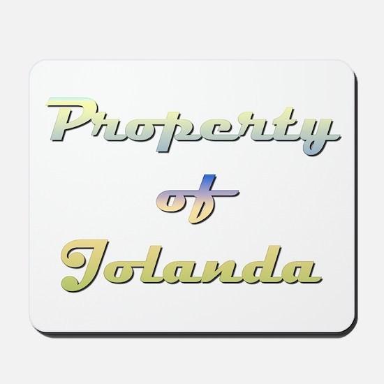 Property Of Jolanda Female Mousepad