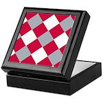 Scarlet and Grey Cobbler-Patterned Keepsake Box