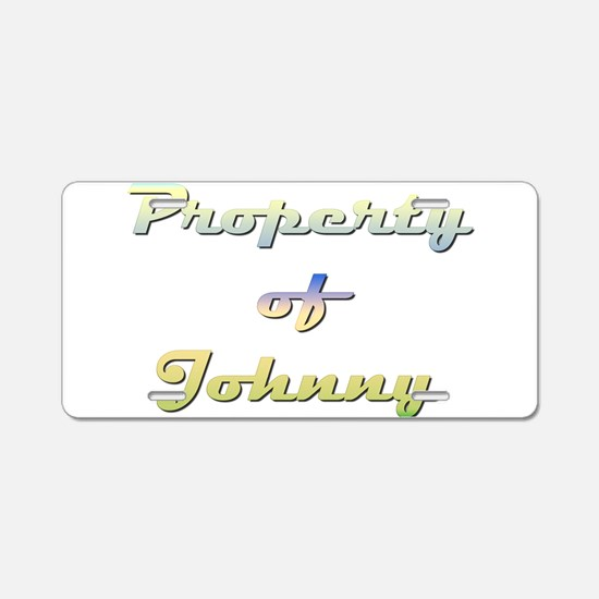 Property Of Johnny Female Aluminum License Plate