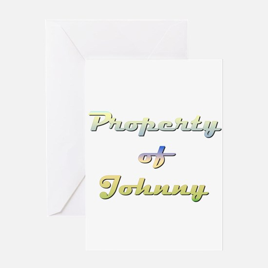 Property Of Johnny Female Greeting Card