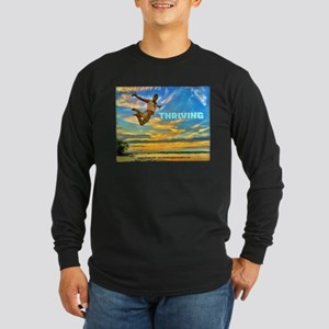 Fly Guy Sunset Jump - Thriving Long Sleeve T-Shirt