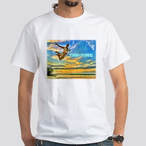 Fly Guy Sunset Jump - Thriving T-Shirt