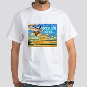 Fly Guy Sunset Jump - Fly It Off T-Shirt