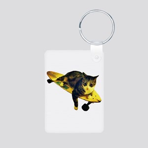 Skateboarding Cat - Cut Out Keychains