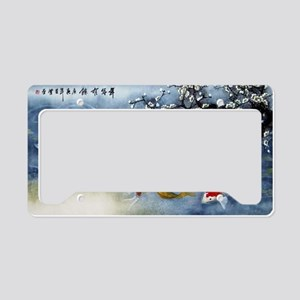 Koi Fish and Flowers License Plate Holder