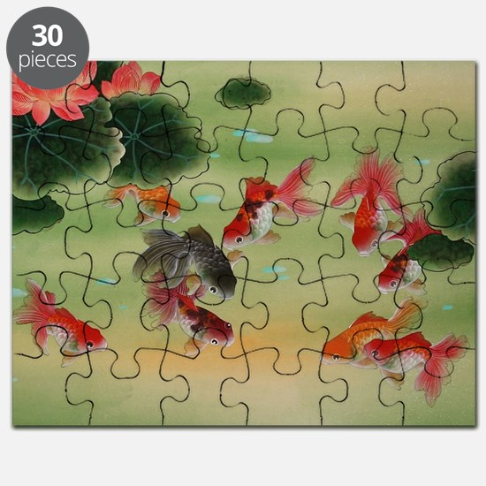 Koi Fish and Flowers Puzzle