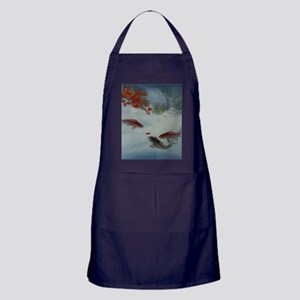 Koi Fish and Flowers Apron (dark)