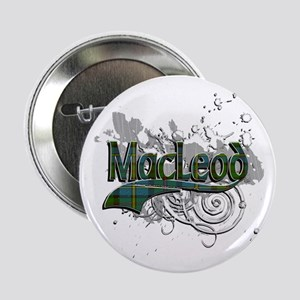 "MacLeod Tartan Grunge 2.25"" Button"